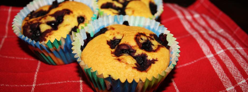 Blåbær-muffins