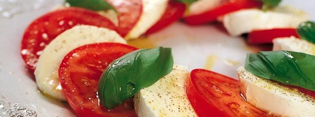 tomat og mozzarella